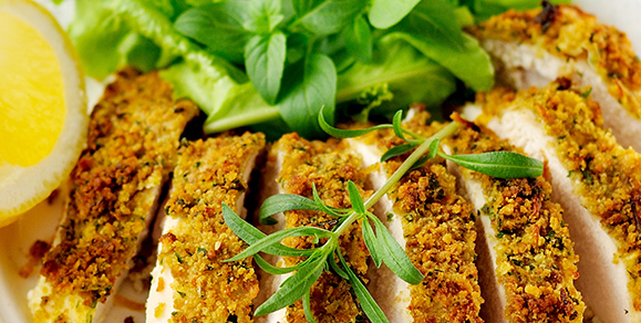 Savoury Chicken Escalope with Dairygold, Lemon & Parsley Sauce