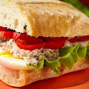 Tuna, Egg and Pepper Ciabatta