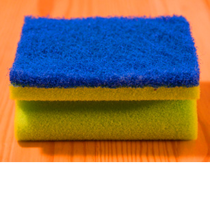 How to kill 99% of germs on a kitchen sponge.