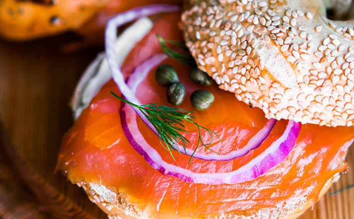 Smoked Salmon Bagel with Dairygold Deli Original